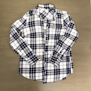 NWOT J. Crew Flannel Button Up XS